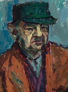 Porträt Melzer mit Mütze, 1965