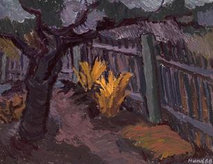 Gartenecke im Herbst, 1968