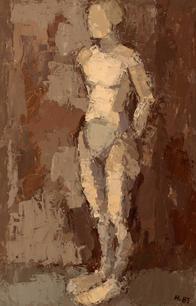 Stehender Mädchenakt, 1983