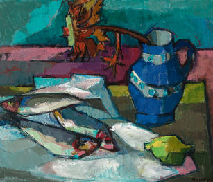 Stilleben mit Fischen, 1964