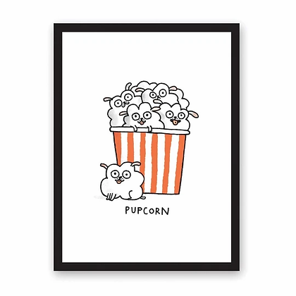 Riso Print Pupcorn