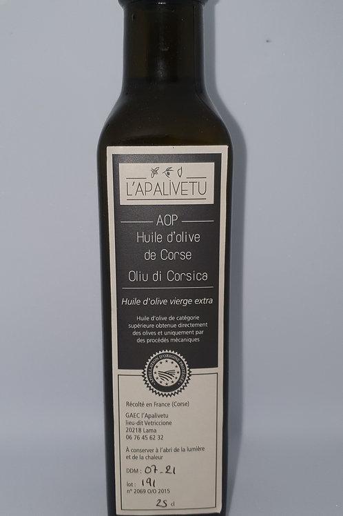 Huile d'olive AOP L'APALIVETTU 25cl