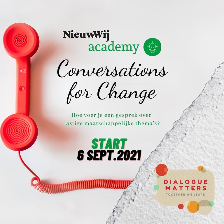 Conversations for Change (i.s.m. Nieuw Wij)