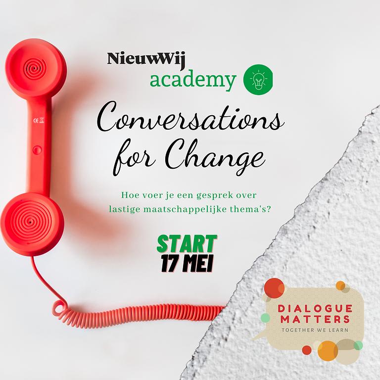 Cursus Conversations for Change ism Nieuw Wij