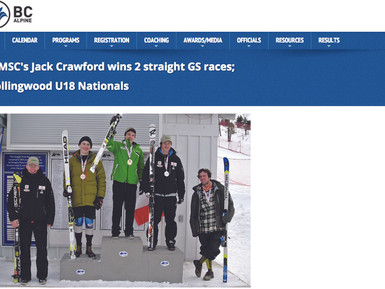 Jack Wins Two Straight Grand Slalom Races at Collingwood