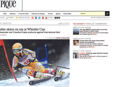 Jack Crawford's Outstanding Whistler Cup Results