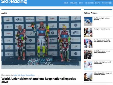 World Junior Slalom Champions Keep National Legacies Alive