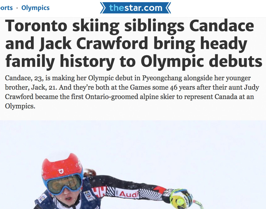 Jack and Candace Crawford Alpine Skiers