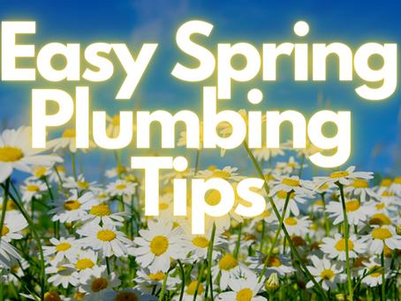 Easy Spring Plumbing Tips