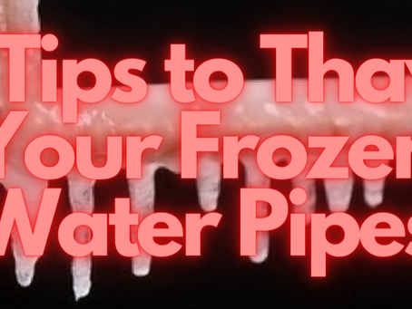 Frozen Water Pipes? Use These 5 Tips now!