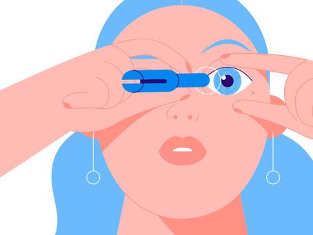 Lenshelper - kontaktlinseapplikator forklart med animasjonsvideo