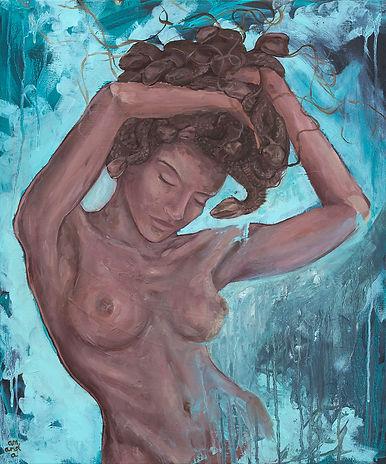 medusa, amanda forward, painting, greek mythology