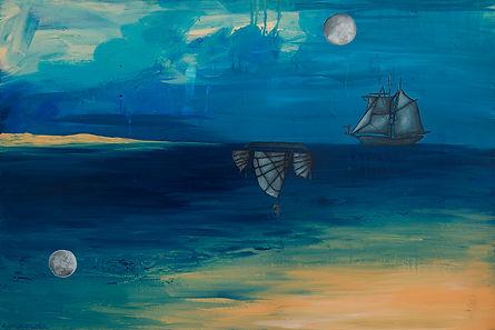 boat, ship, love, amanda forward, painting