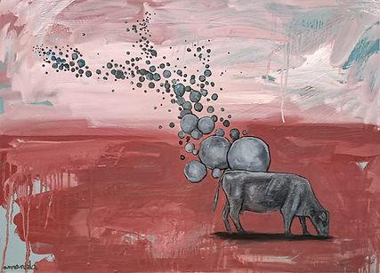 cow, art, amanda forward