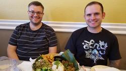 Chris & Tyler enjoy lunch @ Tharaphu