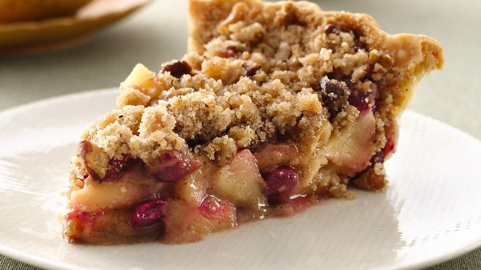 Cranberry Apple Crumble Pie-Dairy Free