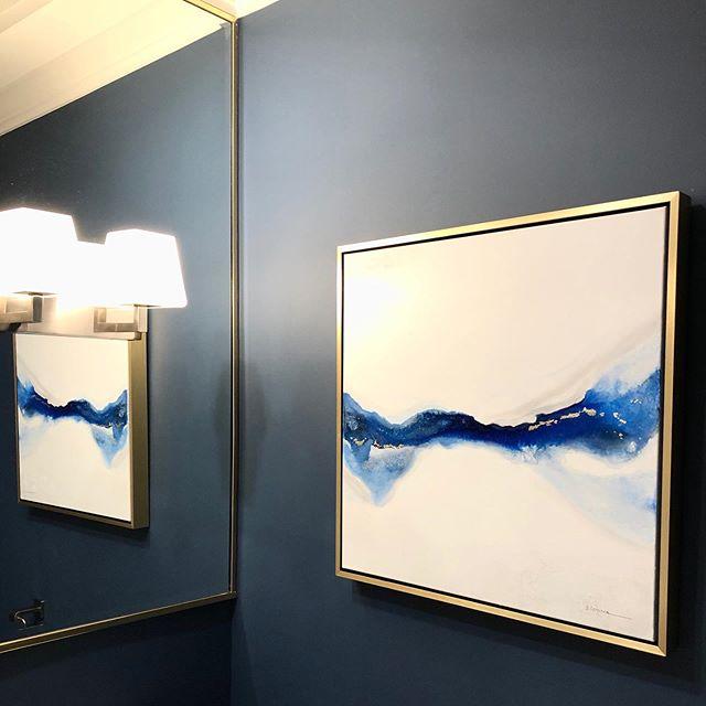 Powder room artwork
