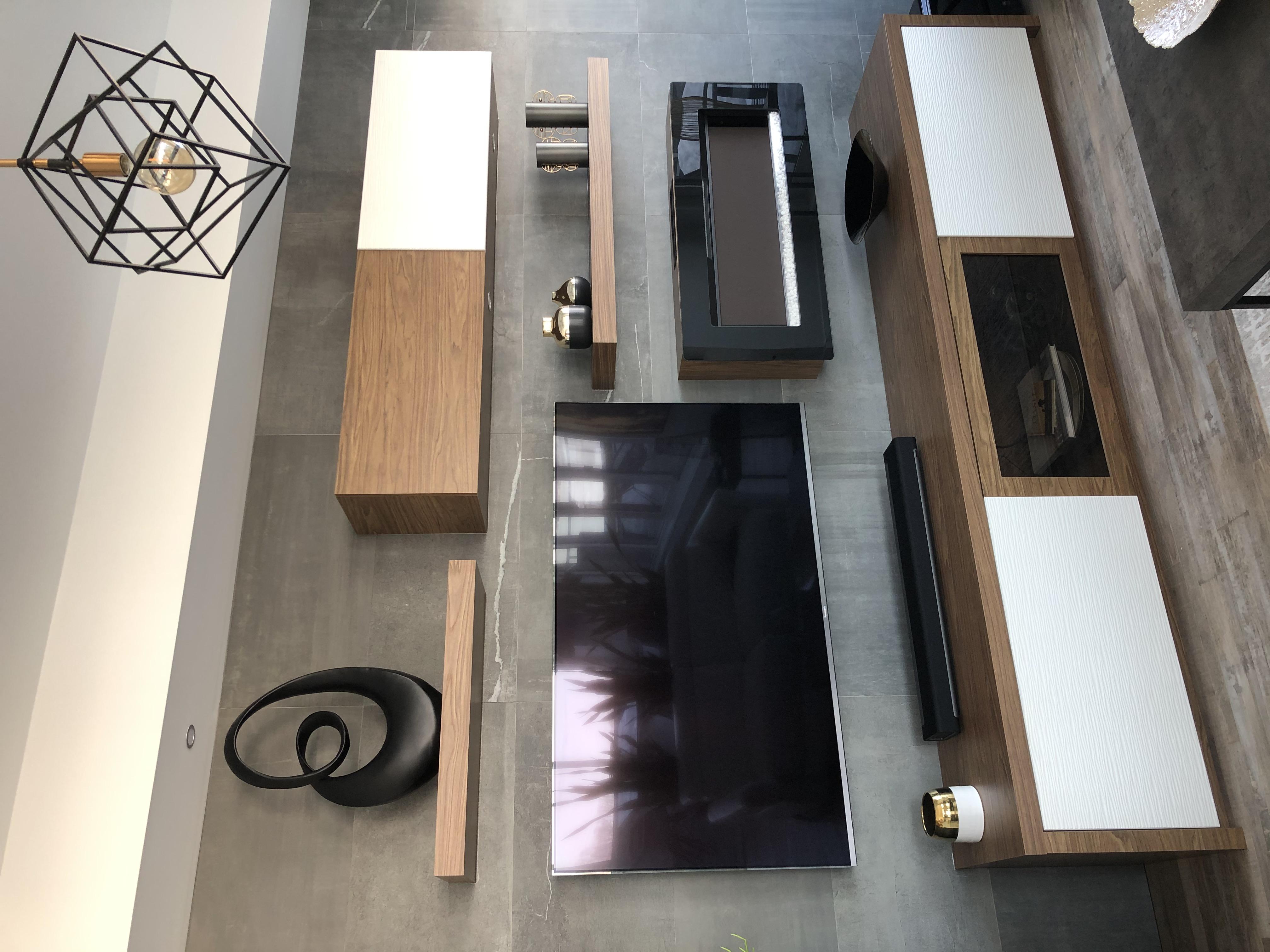 Custom modern wall  unit