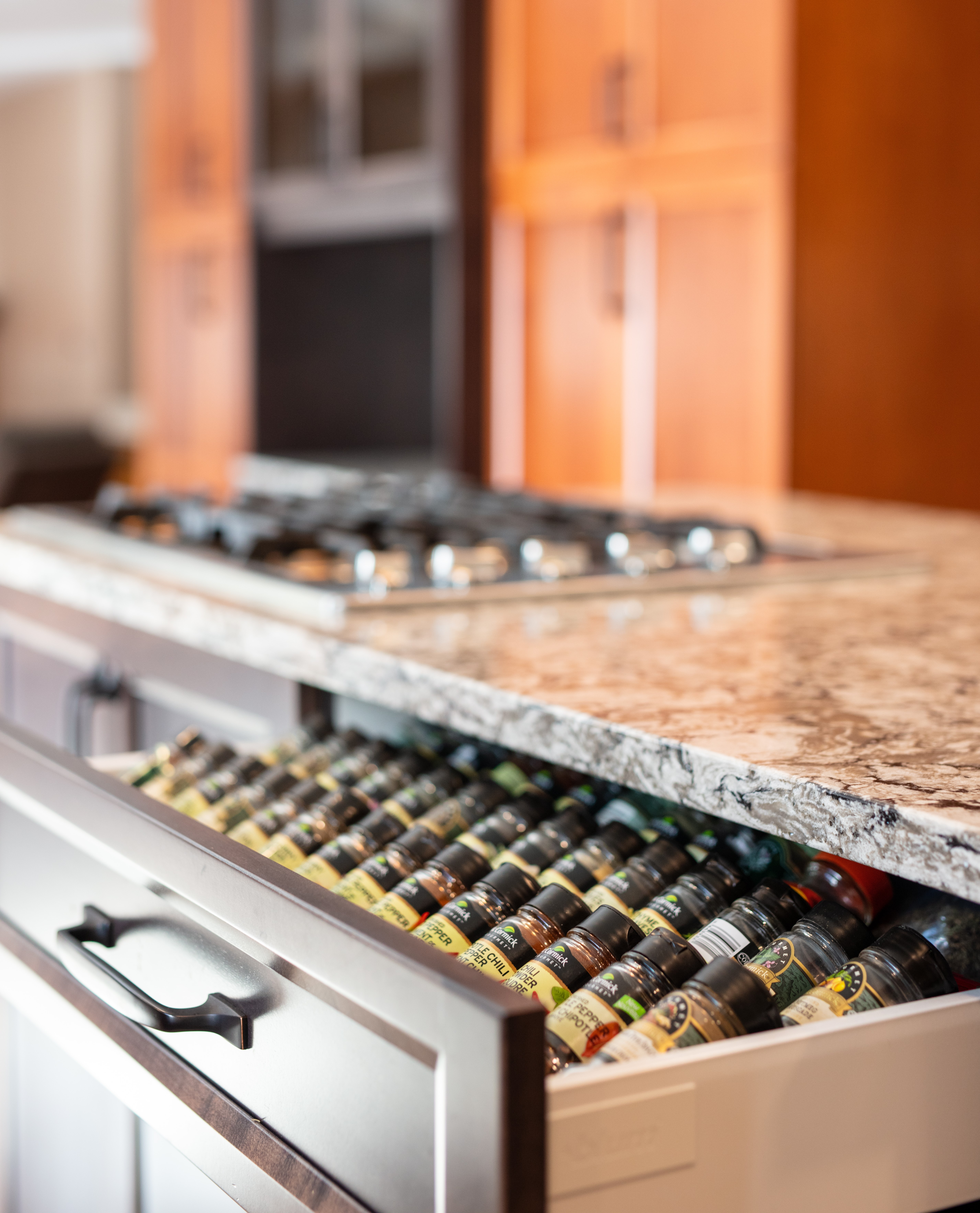 Rich and Dramatic Kitchen accents