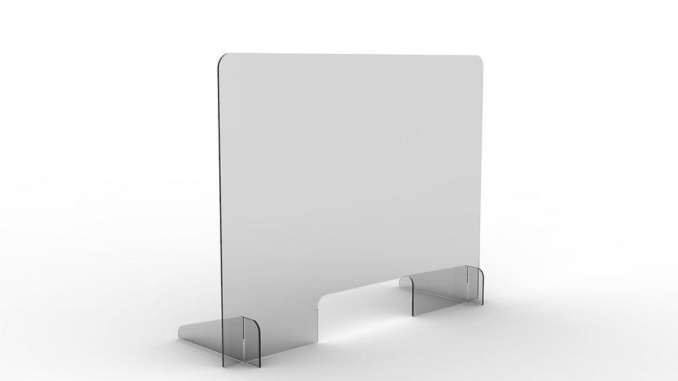 COVIDPROTECT-Schutzglaswand 80 x 60 cm 5mm Stärke