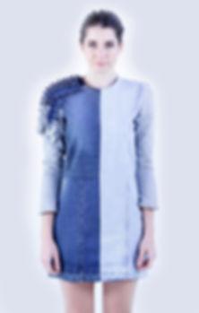 vestido jean reciclado