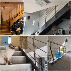 Habillage et rénovation de l'escalier +