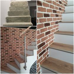 Habillage Escalier béton brut