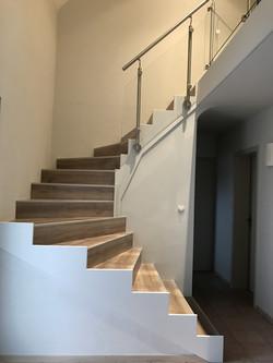 Habillage escalier Maytop et rampe Inox