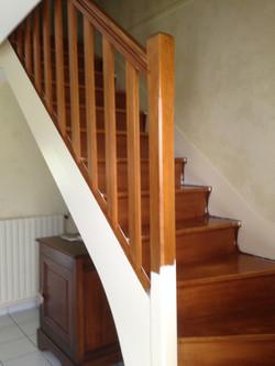 escalier bois classique 1/4 tournant AVANT