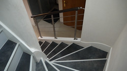 Habillage escalier et Rampe Inox