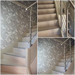 Habillage escalier et rampe inox 304