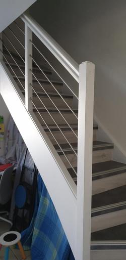 habillage escalier bois et remplacement