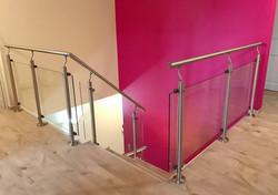 Rampe Inox 304 et Habillage de l'escalie