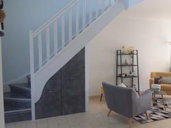 Habillage escalier bois par système Maytop