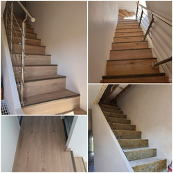 Habillage de l'escalier béton, du palier