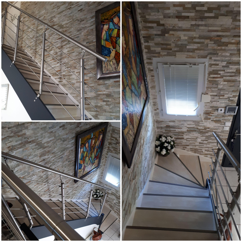 Habillage escalier et Changement des rampes par Rampe et balustrades INOX 304