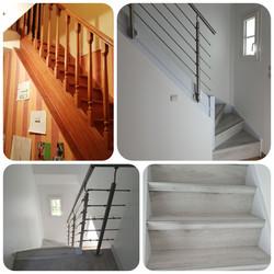 habillage escalier bois et changement de