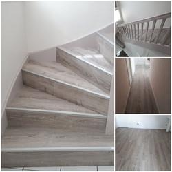 Rénovation escalier et pose de parquet assorti