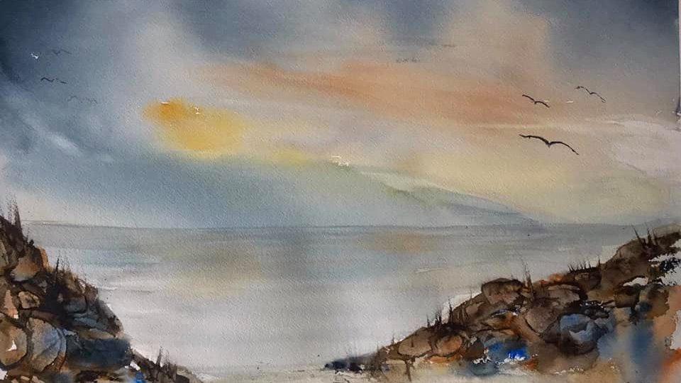 Misty Irish Sea