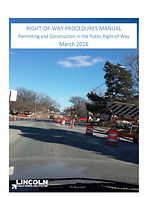 City of Lincoln, Nebraska. Keyhole Excavation and Core Reinstatement Specifcations