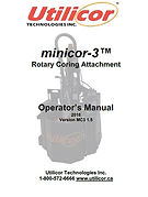 Minicor3 Operators Manual Version 1.5.JP