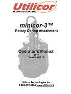 Minicor3 Operators Manual Version 1.5.JP