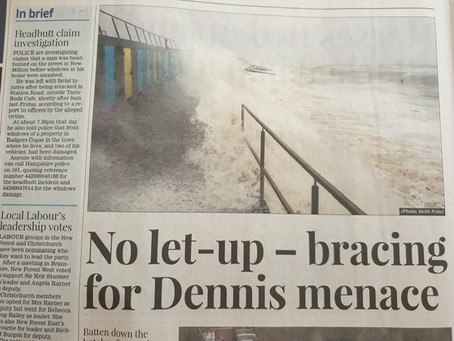 CLUB MEMBER, KEITH PRIOR, MAKES A SPLASH IN LOCAL PAPER