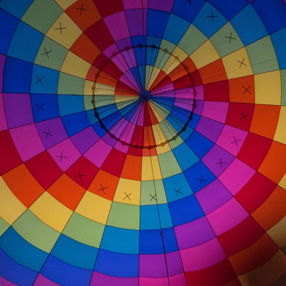 Inside a baloon