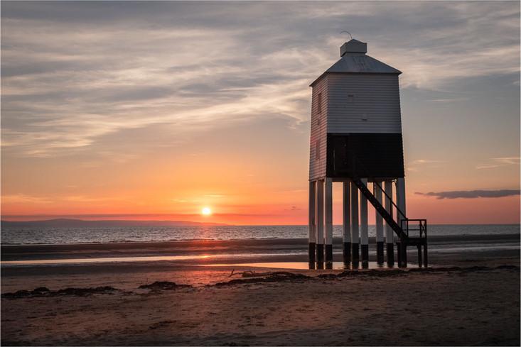 Sunset Burnham Lighthouse - Elaine Adkin