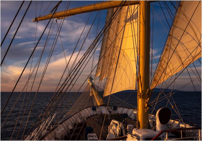 Setting Sail at Sunset