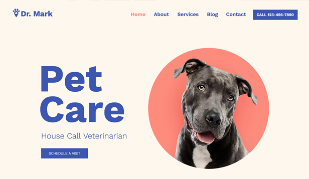 Business website templates – Pet Care