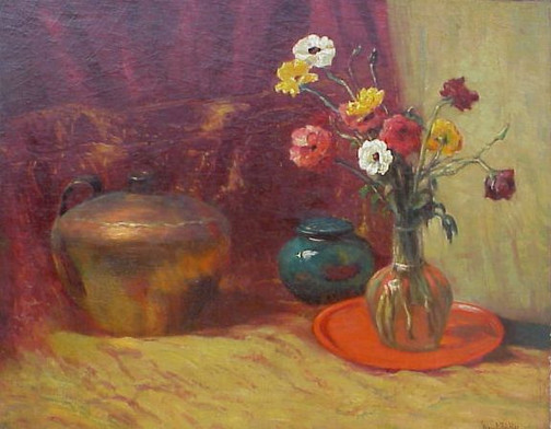 Still Life With Vase And Pottery