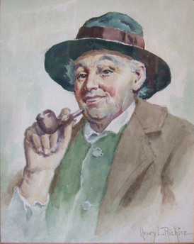Smiling Man With Pipe