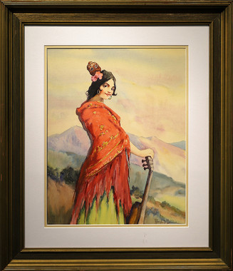 Spanish Lady With Guitar